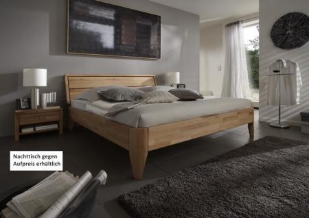 Bett Ehebett Überlänge Kernbuche massiv geölt Traumbett Schlafzimmer - Vorschau 1