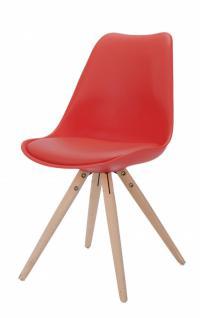 Stuhl Schalenstuhl Kunstleder Küchenstuhl Schalensitz Eiche weiss versch. Farben