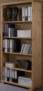 Regal Vitrine Büroschrank Standregal Bücherregal Büroregal Kiefer massiv