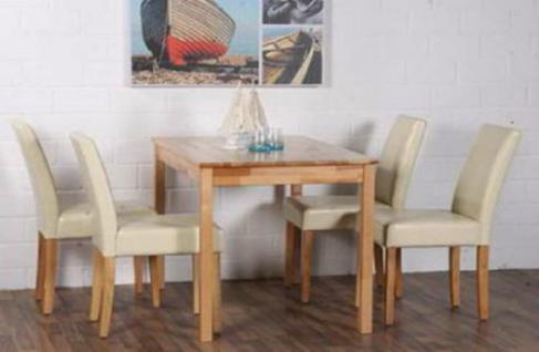 Esstisch Esszimmertisch Küchentisch Tisch 110x70 cm Kernbuche massiv lackiert