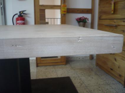 Tisch Esstisch Esszimmertisch 200x100 cm Akazie massiv Roheisen lackiert - Vorschau 4