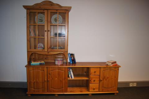 Wohnwand Buffet Sideboard mit Aufsatz TV-Möbel Kiefer massiv provence - Vorschau 1