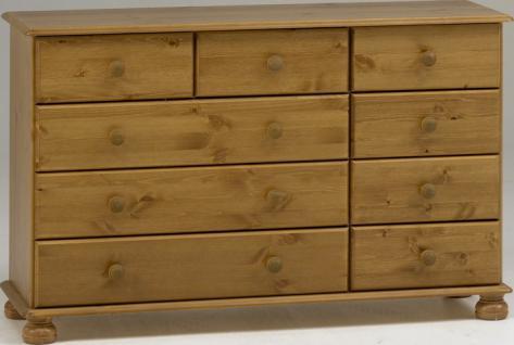 Schubladenkommode Sideboard Kommode Kiefer MDF - Vorschau 1