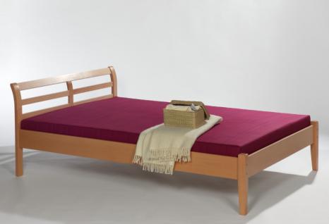 Einzelbett Bett Gästebett Futonliege 120x200 Buche massiv natur lackiert
