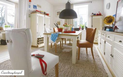 Tisch Esstisch Küchentisch 180 Pinie Wildeiche massiv geölt antik weiß shabby - Vorschau 2