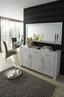 Sideboard Anrichte Wohnzimmer Kommode Eiche massiv geölt satin weiß - Vorschau 2