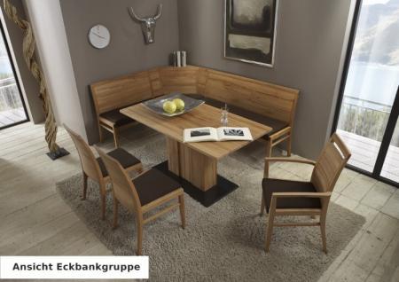 Esszimmer Wohnzimmer Tischgruppe Eckbank Vitrine Kernbuche massiv geölt - Vorschau 5