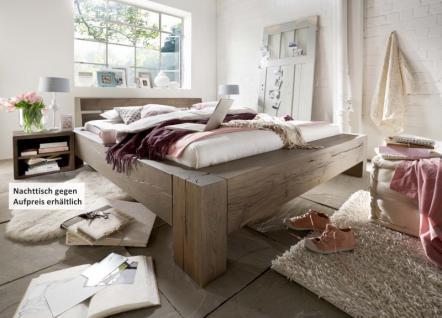 Bett Wuchsrissen Eiche Balkeneiche massiv räucher öl rustikal Schlafzimmer - Vorschau 1