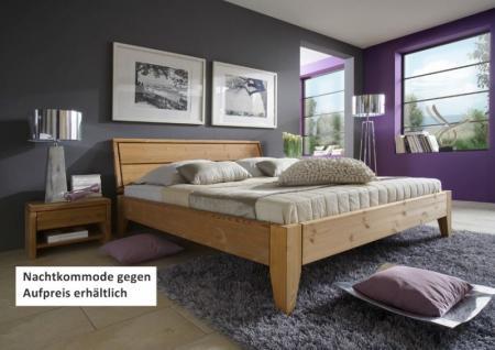 Bett Systembett Doppelbett Kiefer massiv gelaugt geölt vielseitig Überlänge - Vorschau 1