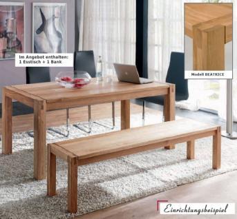 Esszimmer Essgruppe Essbankgruppe Küche Tisch Bank Eiche massiv geölt - Vorschau 2