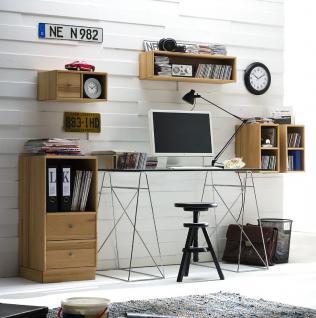 Arbeitszimmer Büromöbel Aufbewahrung System Zubehör Kernbuche massiv geölt - Vorschau