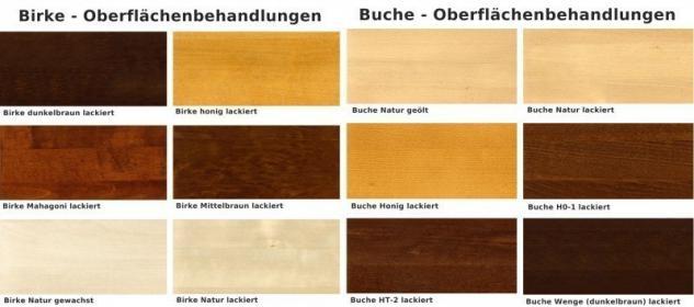Highboard Vitrinenschrank Sideboard Wohnzimmerschrank Eiche massiv geölt - Vorschau 3