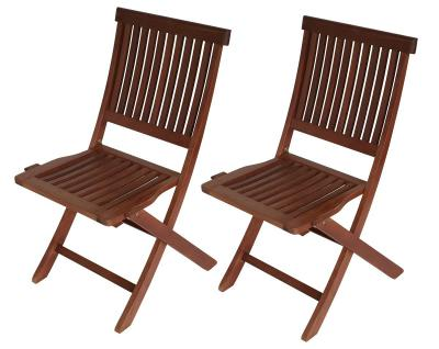 Gartenstuhl 2er Set Klappstuhl Gartenmöbel Stuhl Eukalyptusholz FSC