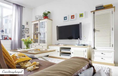 Lowboard TV-Board Konsole Pinie Wildeiche massiv geölt antik weiß East Coast - Vorschau 2