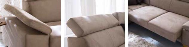 Polsterecke Couch Sofa Polstersofa dunkel beige Textilsofa Erle Funktionen - Vorschau 2