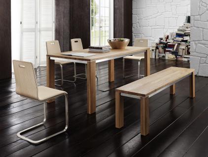 Essgruppe Essbankgruppe Esszimmer Tisch Bank Stühle Eiche massiv geölt natur - Vorschau 1