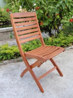 Klappstuhl Gartenstuhl 2er Set Gartenmöbel Stuhl Eukalyptusholz FSC
