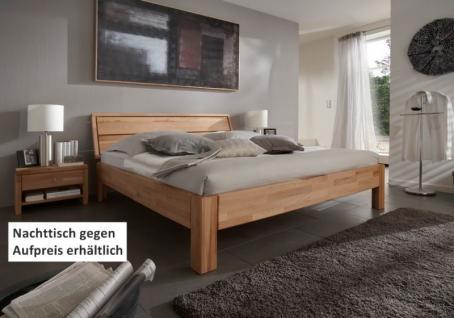 Bett Ehebett Überlänge Kernbuche massiv geölt vielfältige Kombinationen - Vorschau 1