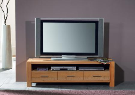 TV-Board Lowboard TV-Anrichte TV-Tisch Wohnzimmer Kernbuche massiv geölt natur - Vorschau