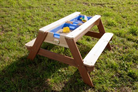 Tisch Picknickstisch Kindertisch Spieltisch Sand Wasser Holz Stauraum Garten - Vorschau 4