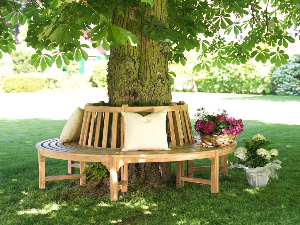baumbank gartenbank parkbank rundbank 360 grad bank teak massiv fsc 6 teilig kaufen bei saku. Black Bedroom Furniture Sets. Home Design Ideas