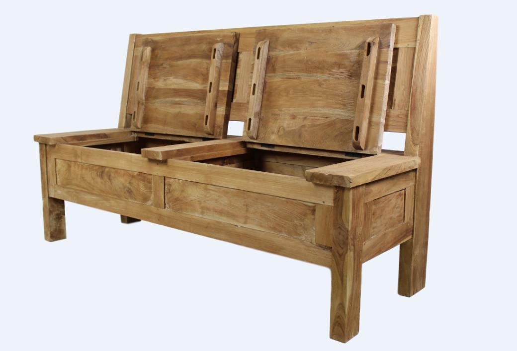 gartenbank teak natur vollmassiv bank unikat klappen. Black Bedroom Furniture Sets. Home Design Ideas