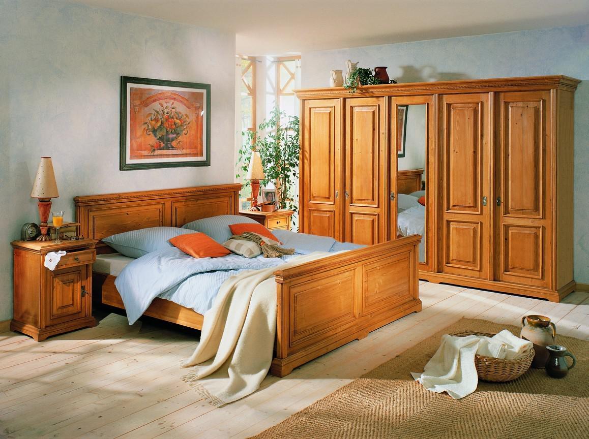 schlafzimmer einrichtung bett schrank nachtkonsole fichte. Black Bedroom Furniture Sets. Home Design Ideas
