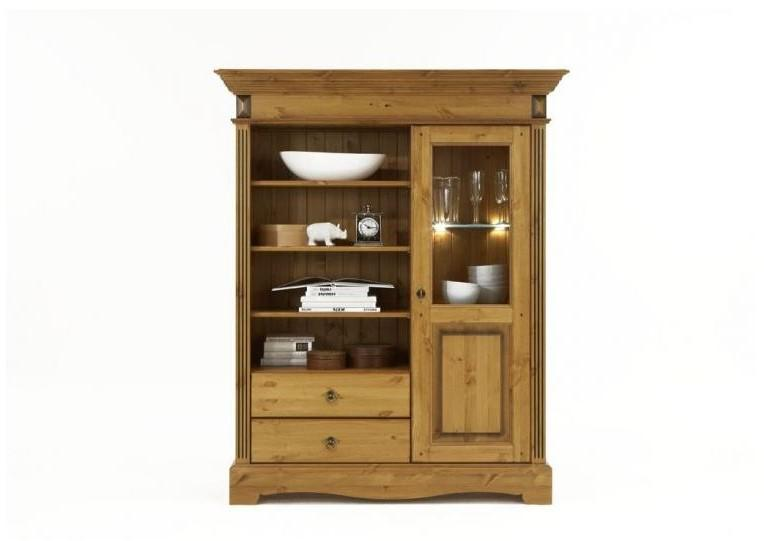 vitrinenschrank vitrine regalschrank schrank rechts kiefer. Black Bedroom Furniture Sets. Home Design Ideas