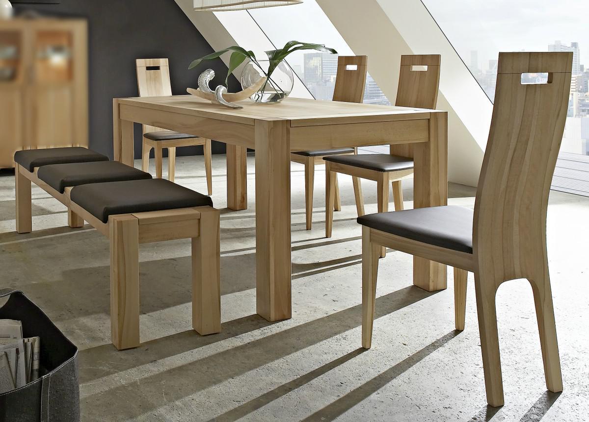 Essgruppe Esszimmergruppe Esstisch Bank Stühle Leder