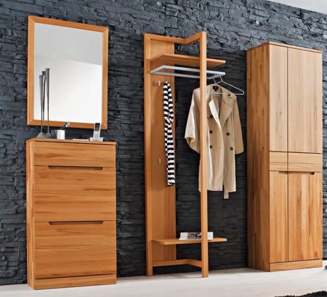 garderobenset dieleneinrichtung garderobe kernbuche massiv ge lt made in germany kaufen bei. Black Bedroom Furniture Sets. Home Design Ideas