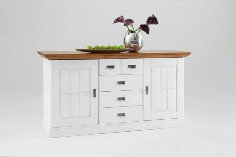 sideboard anrichte kommode kiefer massiv wei bernstein. Black Bedroom Furniture Sets. Home Design Ideas