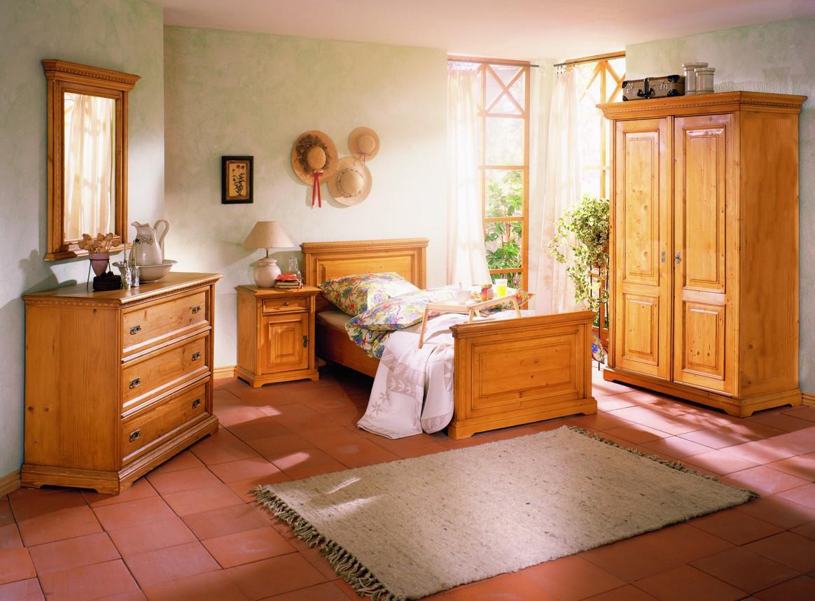 Bett einzelbett jugendbett jugenzimmer schlafzimmer fichte for Schlafzimmer massiv