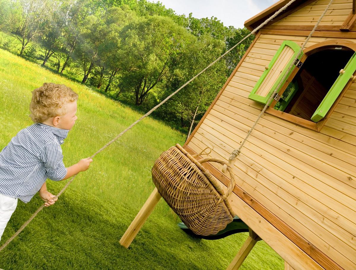 spielh tte spielhaus mit veranda rutsche leiter holzspielhaus garten t v gepr ft kaufen bei. Black Bedroom Furniture Sets. Home Design Ideas