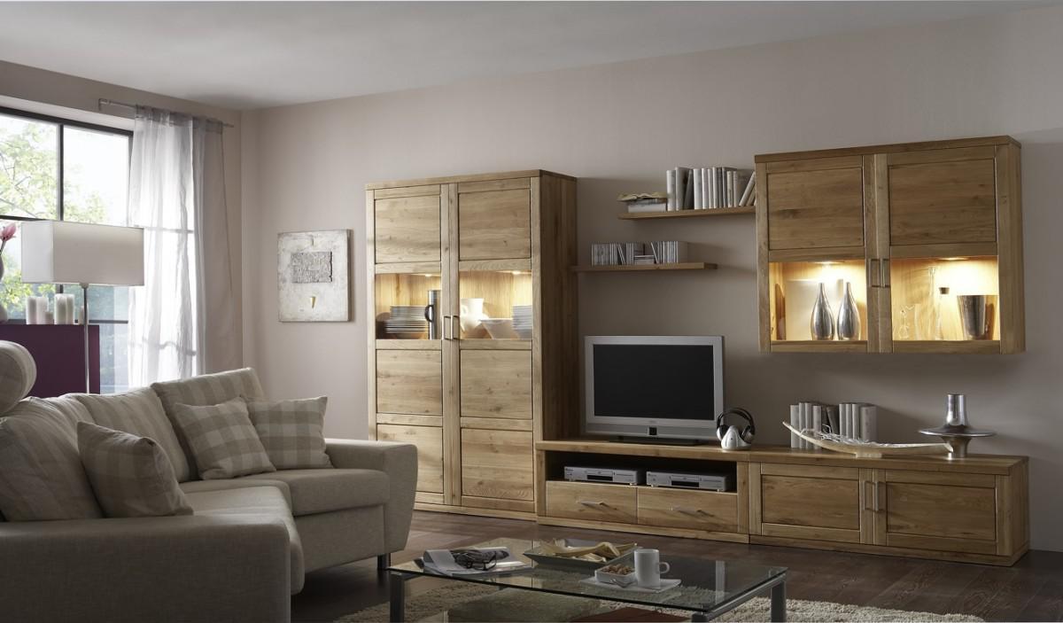 wohnwand wohnzimmerwand wohnzimmer tv wildeiche massiv. Black Bedroom Furniture Sets. Home Design Ideas