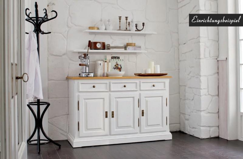 sideboard anrichte kommode fichte antik wei massiv shabby vintage kaufen bei saku system. Black Bedroom Furniture Sets. Home Design Ideas