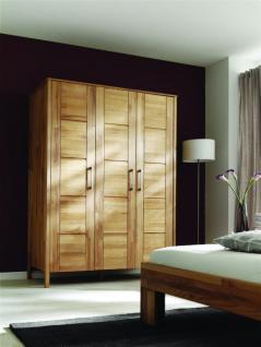 Kleiderschrank Schlafzimmerschrank Drehtürenschrank 3-trg Kernbuche massiv geölt - Vorschau