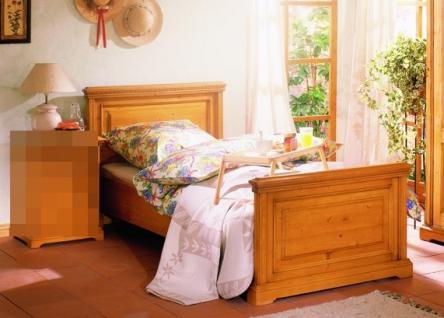 Bett Einzelbett Jugendbett Jugenzimmer Schlafzimmer Fichte massiv antik gewachst