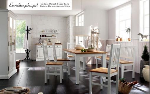 Stühle Stuhl-Set Küchenstuhl Esszimmerstuhl Fichte massiv Antikweiß shabby - Vorschau 4