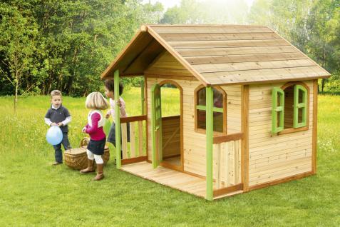 Spielhaus Spielhütte Gartenhaus für Kinder Holzspielhütte TÜV geprüft sicher - Vorschau 2