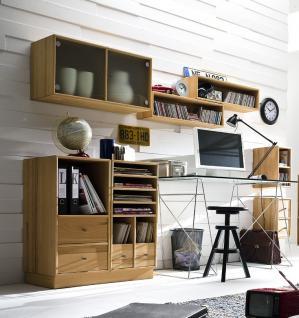 Arbeitszimmer Büro Regal Schrank System Zubehör Kernbuche massiv geölt planbar - Vorschau