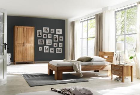 Schlafzimmer Set Einzelbett Schrank Jugendzimmer komplett Kernbuche massiv geölt - Vorschau 1