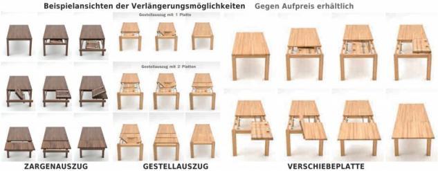 Essgruppe Essbankgruppe Bank Tisch Sitzbank Kernbuche massiv Leder braun - Vorschau 4