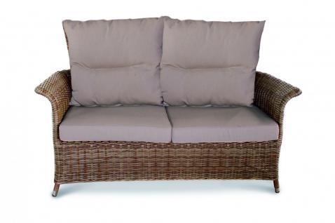 Sofa Couch 2 Sitzer Loungemöbel Loungesessel Lounge Gartensessel Geflecht - Vorschau 1