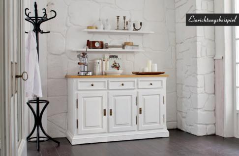 Sideboard Anrichte Kommode Fichte Antik weiß massiv shabby vintage - Vorschau 2