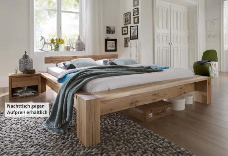 Bett Ehebett schwer massiv Eiche Balkeneiche geölt natur rustikal Bettsystem - Vorschau 1