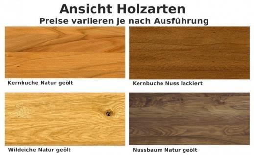 Sideboard Anrichte Vitrine Wohnzimmer Esszimmer Nussbaum massiv geölt - Vorschau 3
