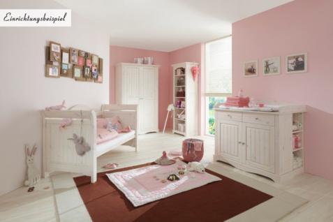 Babybett Gitterbett Kinderbett Kiefer massiv weiß romantisch süß Baby Bett - Vorschau 3