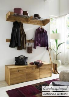 Garderobe Wandgarderobe Hakenleiste Wildeiche massiv geölt Flur Diele - Vorschau 2