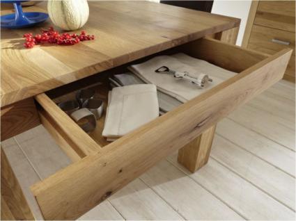 Esstisch Esszimmertisch Tisch versch. Größen Kernbuche oder Wildeiche massiv - Vorschau 5