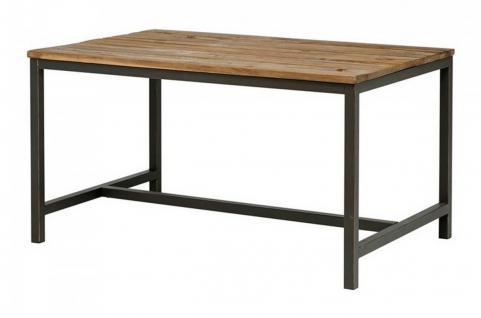 Tisch Esstisch 140 x 90 cm Ulme Altholz antik vintage Used Look Gebrauchsspuren - Vorschau 1
